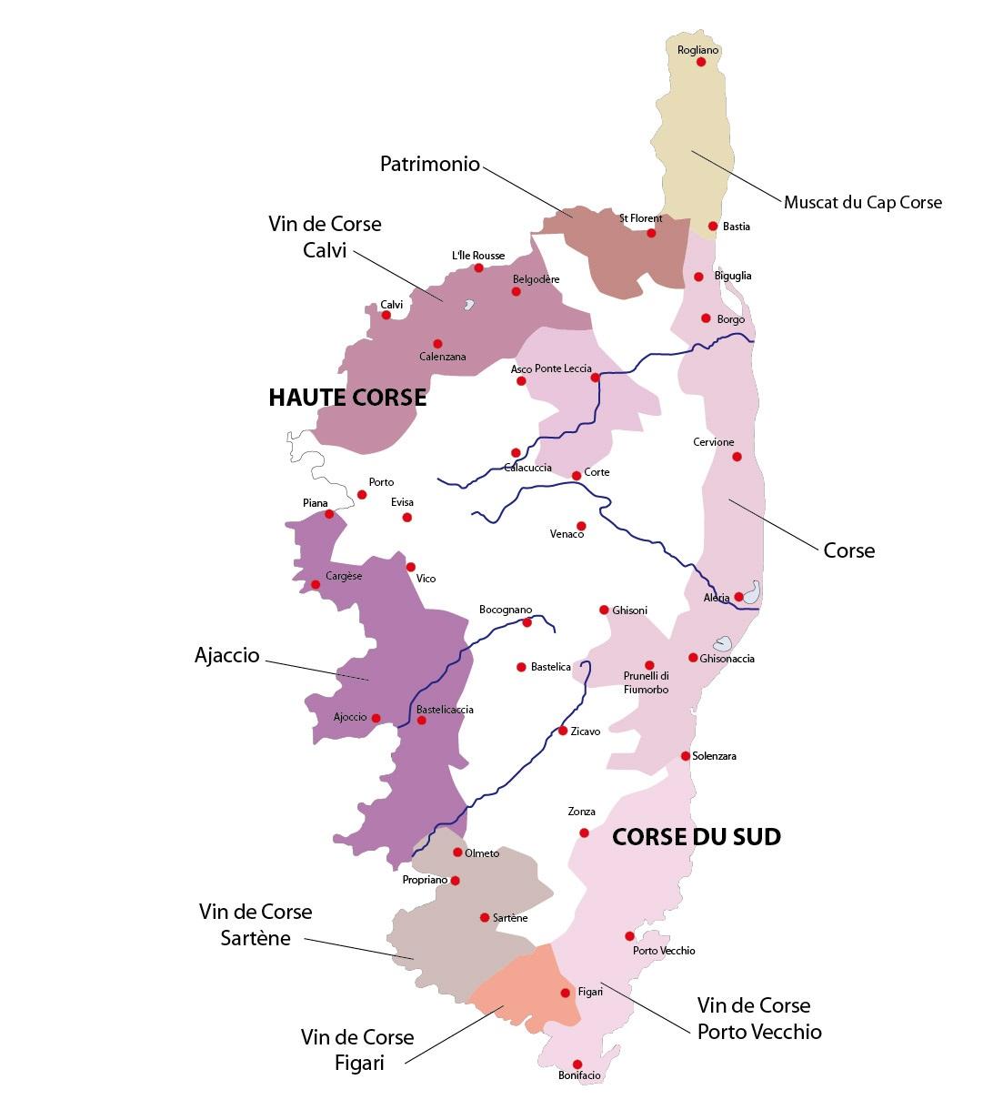 Carte Corse Noir Et Blanc.Corse